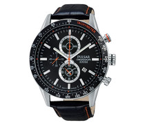 Pulsar Herren-Armbanduhr Chronograph Quarz Leder PF8441X1