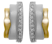Damen-Ohrstecker 925 Silber rhodiniert Zirkonia Brillantschliff weiß