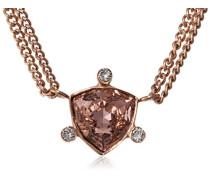 Damen-Halsreif rotgold Kristall rosa 45 cm - 336684