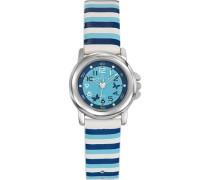 Certus-647551-Armbanduhr-Quarz Analog-Zifferblatt Blau Armband Leder Mehrfarbig