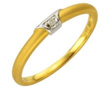 Diamonds by Ellen K. Damen-Ring 585 Gelbgold Brillant 0.01 Karat W 17 170370157-1-017