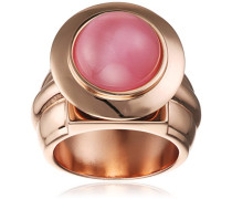 Astro Rose Vergoldet Messing mit Hund Zähne Amethyst Halbedelstein und Light Pink Cat Eye Cabochon Ring