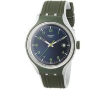 Swatch Unisex-Armbanduhr GO CLIMB Analog Quarz Silikon YES4004