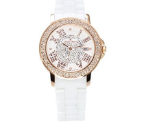 Damen-Armbanduhr Analog Quarz Premium Keramik Diamanten - STM15P3