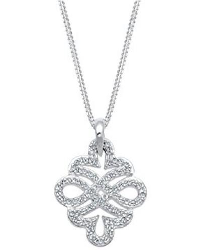 Halskette Ornament Infinity Swarovski Kristalle 925 Silber 0110122516