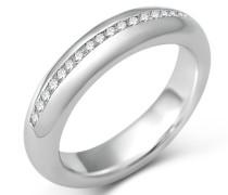 Damen Ring Memoire 925 Sterling Silber Zirkonia