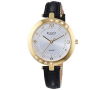 Regent Damen-Armbanduhr XS Analog Quarz Leder 12100598