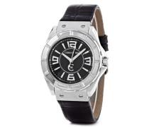 Herren-Armbanduhr Analog Leder Schwarz CRA020A222B