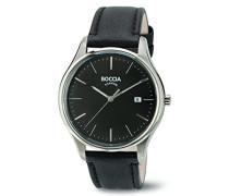Boccia Herren-Armbanduhr Analog Quarz Leder 3587-02