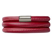 Endlos Schmuck Damen Rot Leder Armband von Länge 57cm