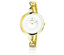 Damen-Armbanduhr Tendance Analog Quarz Gold 027K502