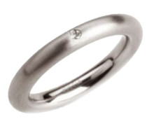 Damen-Ring Titan 1 Brilliant 0,03 ct