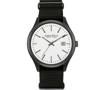 Caravelle New York Herren-Armbanduhr Analog Quarz Nylon 45B142