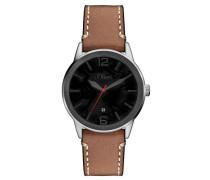 s.Oliver Herren-Armbanduhr Analog Quarz Leder SO-3148-LQ