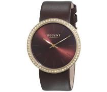 Regent Damen-Armbanduhr Analog Quarz Leder 12100591