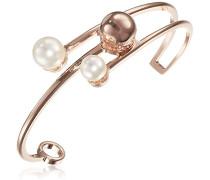 Damen-Armreif Hollywood Vergoldet teilvergoldet Perle Synthetische Perle Weiß - BHOBRR11
