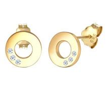 PREMIUM Damen-Ohrstecker 14_k_(585) Gelbgold Diamant 0308640817