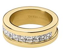 Damen-Stapelring 16/02 Petzel Iiii Sg Edelstahl teilvergoldet Kristall transparent Prinzess