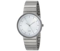 Herren-Armbanduhr Analog Quarz Edelstahl silber AL8000