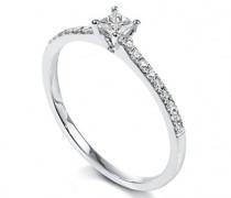 Damen Ring, Weißgold 750/1000, Diamant, 56 (17.8), BADO01067-0056