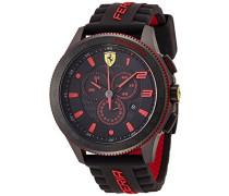 Ferrari Herren-Armbanduhr XL Scuderia XX Analog Quarz Silikon 830138