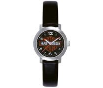 Harley Davidson Damen-Armbanduhr Analog Quarz Leder 76L10