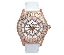 Damen-Armbanduhr Analog Quarz Leder DHD 006S-2BB