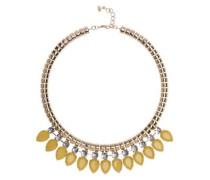 Halskette Emari Acrylstein 52 cm Yellow Pear Drop