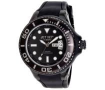 –j5522b-23–Wb30Diver–Armbanduhr–Quarz Analog–Zifferblatt schwarz Armband Kautschuk schwarz