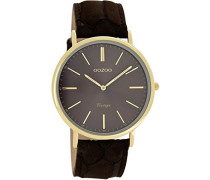 Damen-Armbanduhr Analog Quarz Leder C7328