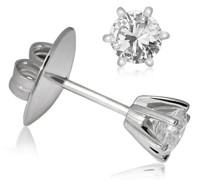 Damen-Ohrstecker 585 Weißgold 2 Diamanten 0,25ct Ohrringe Brillanten Schmuck