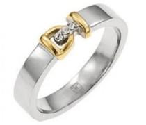 Damen Ring, Edelstahl, Zirkonoxid, 52 (16.6), D21099SDZ52