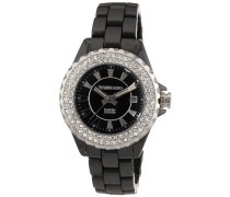 Damen-Armbanduhr XS CRYSTALIA CEC 4BS4 Analog Quarz Keramik 333508