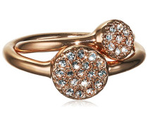 Damen-Ring Ambience Messing- rosegold-  Kristall transparent Rundschliff