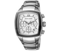 Pierre Cardin Herren-Armbanduhr Général Chronograph Quarz Edelstahl