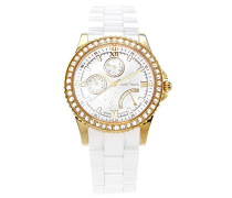 Damen-Armbanduhr Analog Quarz Premium Keramik Diamanten - STM15N5