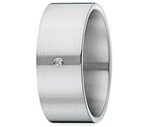 Xen Damen-Ring Edelstahl Diamant weiß Gr.54 (17.2) 011320G54
