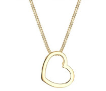 Damen-Halskette mit Anhänger Herz Liebe Freundschaft Liebesbeweis vergoldet silber 925