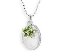 Heartbreaker Damen- Medaillon MyName zum aufklappen Silber eismatt mit lackiertem Blüteneinhänger ohne Gravur LD MY 353 14