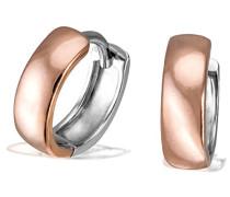 Goldmaid Unisex-Creolen 925 Silber teilvergoldet - Co O433SR