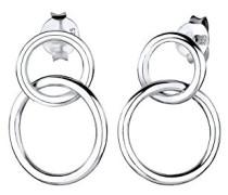 Damen Ohrhänger Kreis Basic 925 Sterling Silber