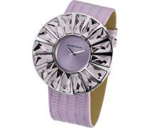 La Passion Armbanduhr XL Flora Analog Leder 1-1638F