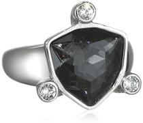 Damen-Ring Edelstahl Kristall grau