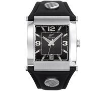 Herren-Armbanduhr Analog Quarz Schwarz 680001