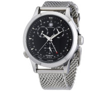 Herren-Armbanduhr XL Hudson Analog Automatik Edelstahl CD-HUDS-AT-STM2-STST-BK