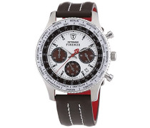 DETOMASO Herren-Armbanduhr Firenze Braun Zifferblatt Leder Chronograph Quarz SL1624C-CH1