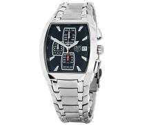 M&M Herren-Armbanduhr Chronograph Quarz Edelstahl M11681-147