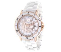 Damen-Armbanduhr Analog Quarz Premium Keramik Diamanten - STM13G415