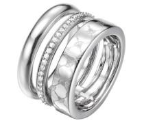 Damen-Ring rhodiniert Zirkonia weiß