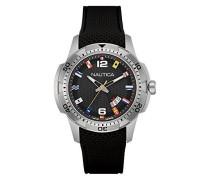 Nautica Herren-Armbanduhr Analog Quarz Silikon NAI13517G